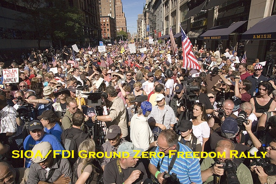 America Speaks! Tens of Thousands  at Historic FDI/SIOA 911 Rally